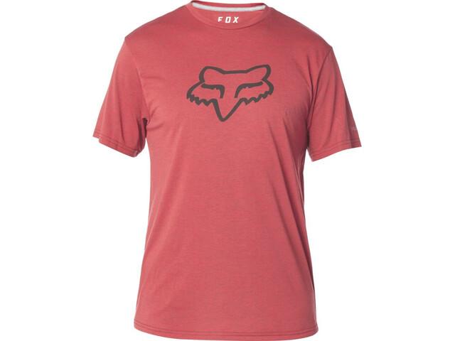 Fox Tournament Tech SS Tee Herren heather red